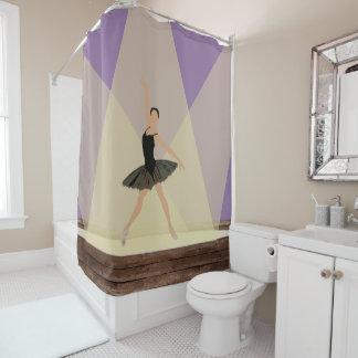 Hispanische Ballerina auf Bühne-Duschvorhang Duschvorhang