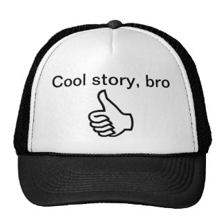 Histoire fraîche, bro casquettes de camionneur