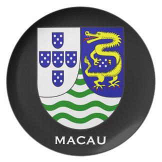 Historische Andenken-Platte Macaos Teller