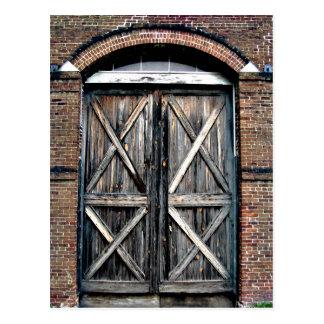 Historische doppelte Türen Postkarten