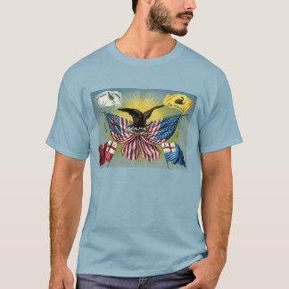 Historische Flaggen USA und Siegel-Shirt T-Shirt