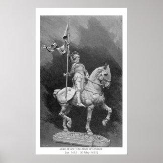 Historische Frauen - Jeanne d'Arc Poster