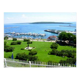 Historische Mackinac Insel Postkarte