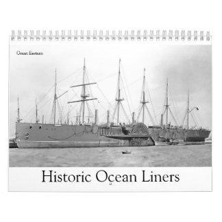 Historische Ozeandampfer Kalender