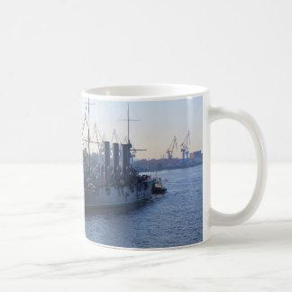 Historische russische Kreuzer-Aurora Kaffeetasse