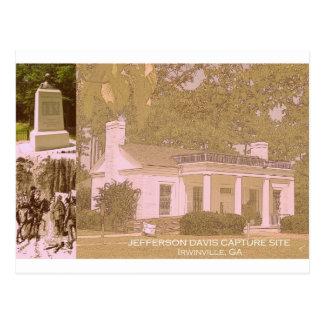 Historischer Gefangennahmen-Standort Jefferson Postkarte