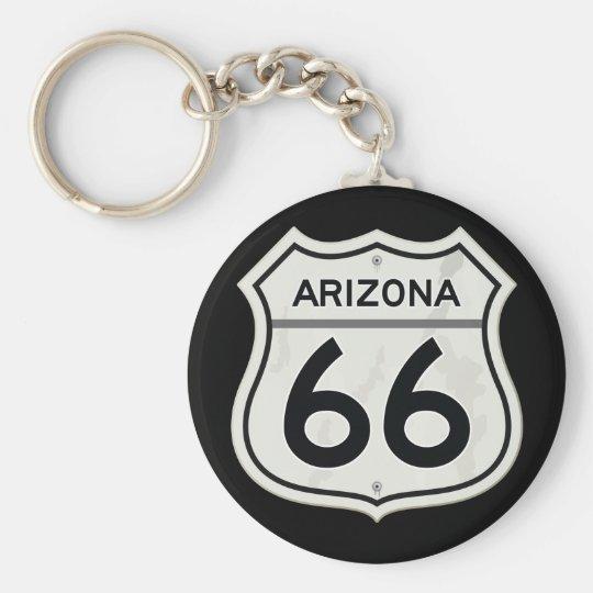 Historischer Weg 66 Arizonas US Standard Runder Schlüsselanhänger