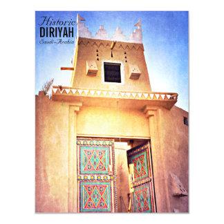Historisches Diriyah Riad Saudi-Arabien Vintag Magnetische Karte