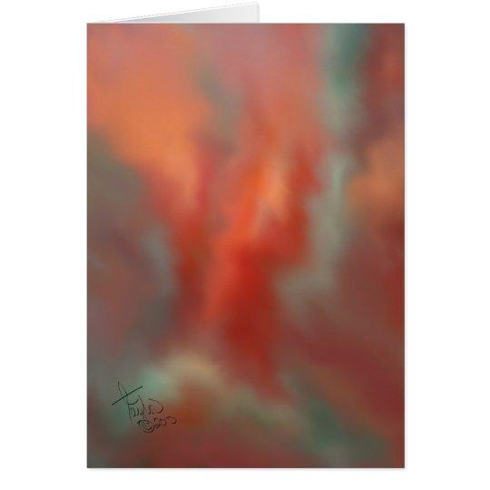 Hitzewallung-Kunst-Gruß-Karte Grußkarte