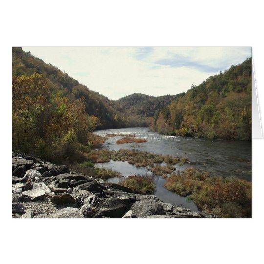 Hiwassee Fluss am Mitteilungskarte