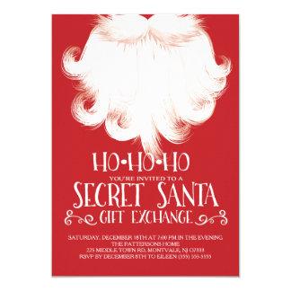 HO HO HO geheimes Sankt-WeihnachtsParty 12,7 X 17,8 Cm Einladungskarte