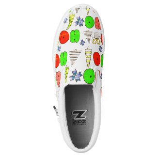 """Ho-ho-ho"" kritzelt Weihnachten Illustration Slip-On Sneaker"