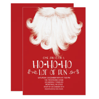 HO HO HO Lose des Spaß-Sankt-WeihnachtsParty 12,7 X 17,8 Cm Einladungskarte