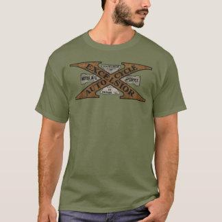 Hobelspäne-Motorrad-Retro Logo T-Shirt