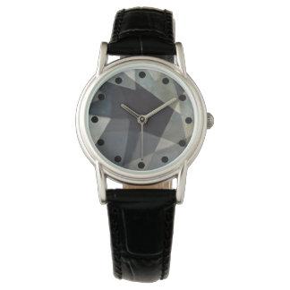 Hoch entwickelte abstrakte Uhr mit schwarzem Band Armbanduhr