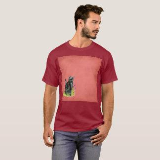 Hoch entwickelter Gato schwarzer T-Shirt