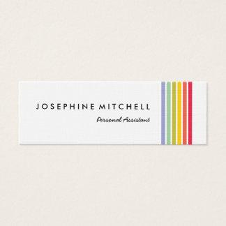 Hoch entwickelter Retro Regenbogen-gestreifte Mini Visitenkarte