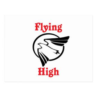 Hoch fliegen postkarte