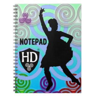 Hochland-Tänzer-Notizblock #1 Notizblock