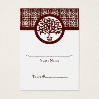 Hochrote Baum-Emblem-Empfangs-Sitzplatz-Karte Visitenkarte