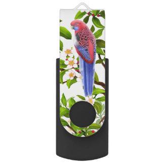 Hochroter Blitz-Antrieb Rosella Papagei USBs 64GB USB Stick