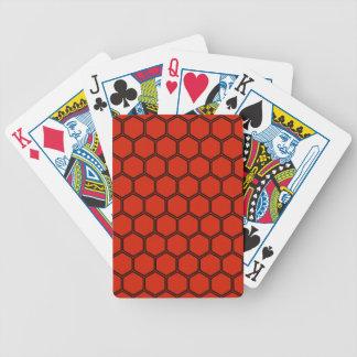 Hochrotes Hexagon 3 Pokerkarten
