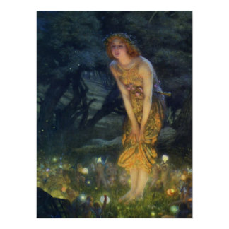 Hochsommer-EvePre-Raphaelitekunst-Druck Poster