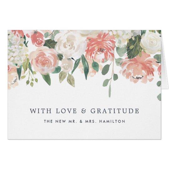 Hochsommer-mit Blumenpersonalisiertes danken Ihnen Mitteilungskarte