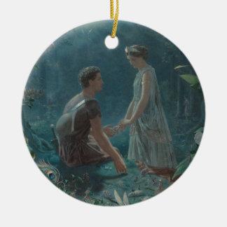 Hochsommer-Nacht Hermia und Lysander Keramik Ornament