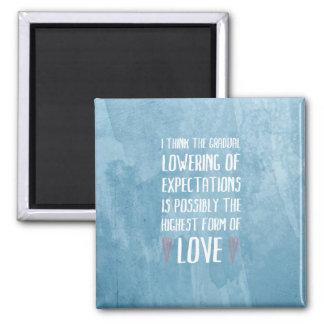 Höchste Form des Liebe-Magneten Quadratischer Magnet