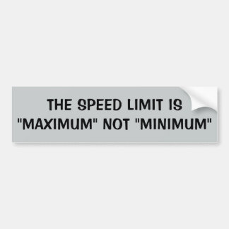 Höchstgeschwindigkeit: Maximum nicht minimal Autoaufkleber