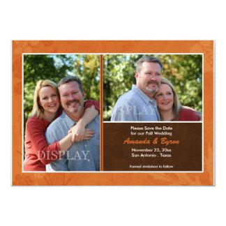 Hochzeit im Herbsts-Foto-Save the Date Mitteilung 12,7 X 17,8 Cm Einladungskarte