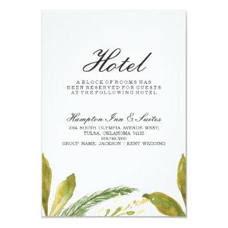 Hochzeit im Herbsts-Hotel-Karte - rustikales Karte