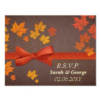 Hochzeit im Herbsts-uAwgkarten 10,8 X 14 Cm Einladungskarte