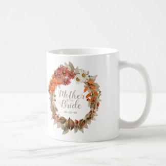 Hochzeit im Herbstwreath-orange Mutter der Braut Kaffeetasse