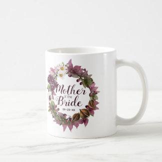 Hochzeit im Herbstwreath-Pflaumen-Mutter der Braut Kaffeetasse