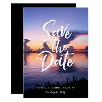 Hochzeit in Urlaubsorts-Foto-Save the Date 12,7 X 17,8 Cm Einladungskarte
