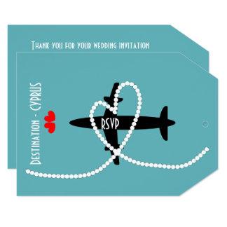 Hochzeit in Urlaubsorts-im Ausland Zypern-UAWG 12,7 X 17,8 Cm Einladungskarte