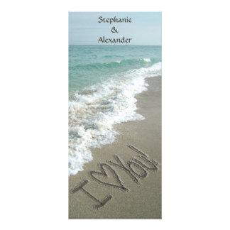Hochzeit in Urlaubsorts-Programm, Strand-Thema Werbekarten