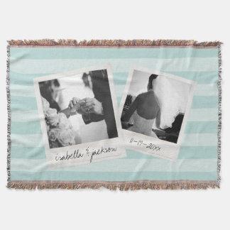 Hochzeit Instagram Collagen-Foto gestaltet Decke