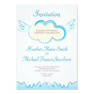 Hochzeit Invitation_5x7_Heaven doppelseitig 12,7 X 17,8 Cm Einladungskarte