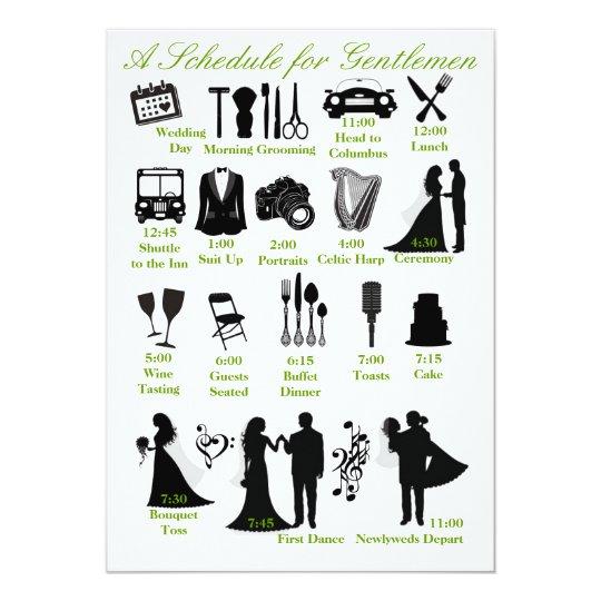 Hochzeit Itenerary Zeitplan Für Trauzeugen Einladung