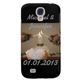 Hochzeit leuchtet Datums-Jahrestag Save the Date d Galaxy S4 Hülle