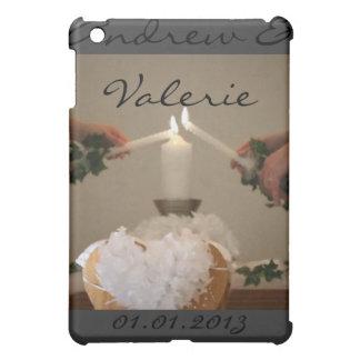 Hochzeit leuchtet Datums-Jahrestag Save the Date d Hülle Für iPad Mini