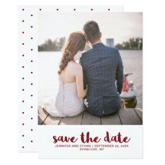 Hochzeit punktiert Save the Date Foto 12,7 X 17,8 Cm Einladungskarte
