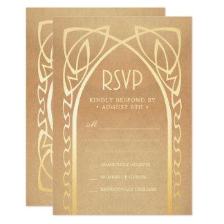 Hochzeit UAWG kardiert | Vintages Nouveau Karte