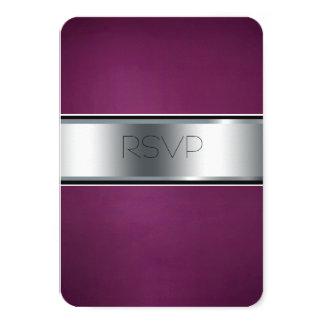 Hochzeit UAWG Karte, eleganter Burgunder und 8,9 X 12,7 Cm Einladungskarte