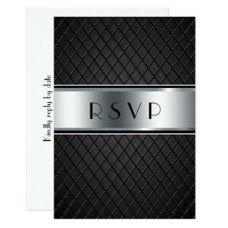 Hochzeit UAWG Karten, elegantes Schwarzes und 8,9 X 12,7 Cm Einladungskarte