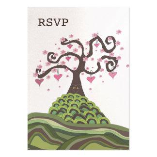 Hochzeit UAWG Monogramm-Blüten-Baum-flache Karten Mini-Visitenkarten