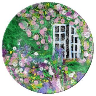 Hochzeit, Verlobung, Garten-Party-China-Platte Porzellanteller